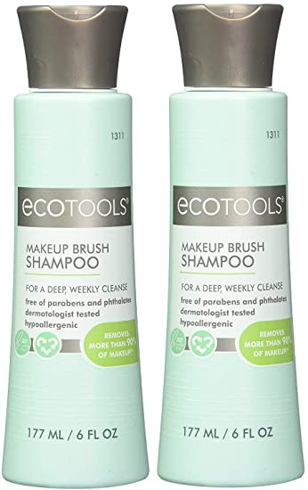 Ecotools Cruelty Free and Eco Friendly Makeup Brush Cleansing Shampoo, 6  Ounce
