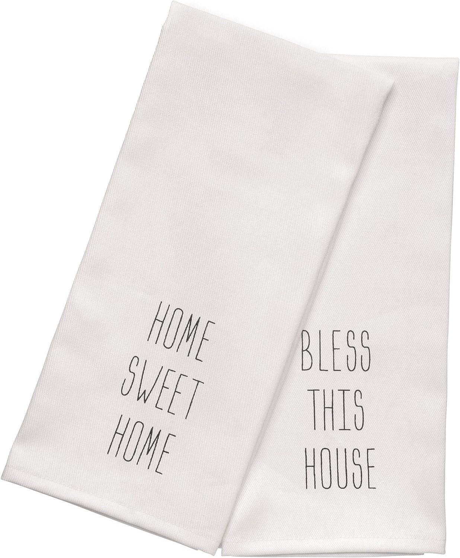 Palais Essentials 100% Cotton Kitchen Towels Set of 2 - Dish Towels 18