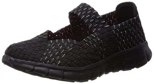 Skechers synergy - front row, mujer, negro (bbk), 36