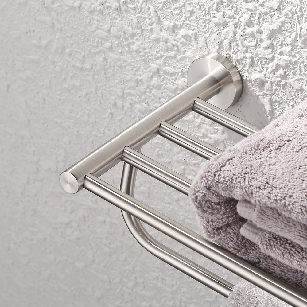 Kes Towel Rack With Towel Bar 23 Inch Brushed Bathroom