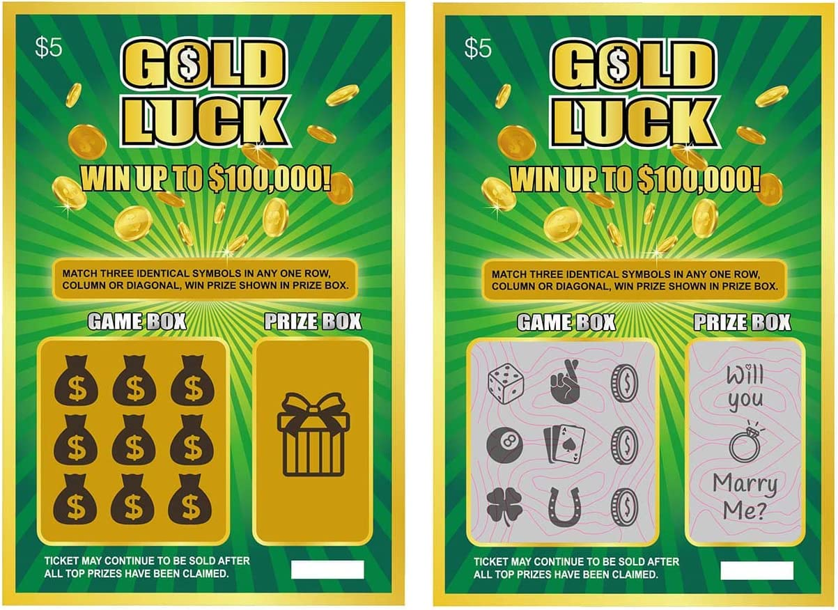 Will You Marry Me Proposal Fake Lottery Tickets Scratch Off Cards, Great Marriage Proposal Idea, 2 Pack