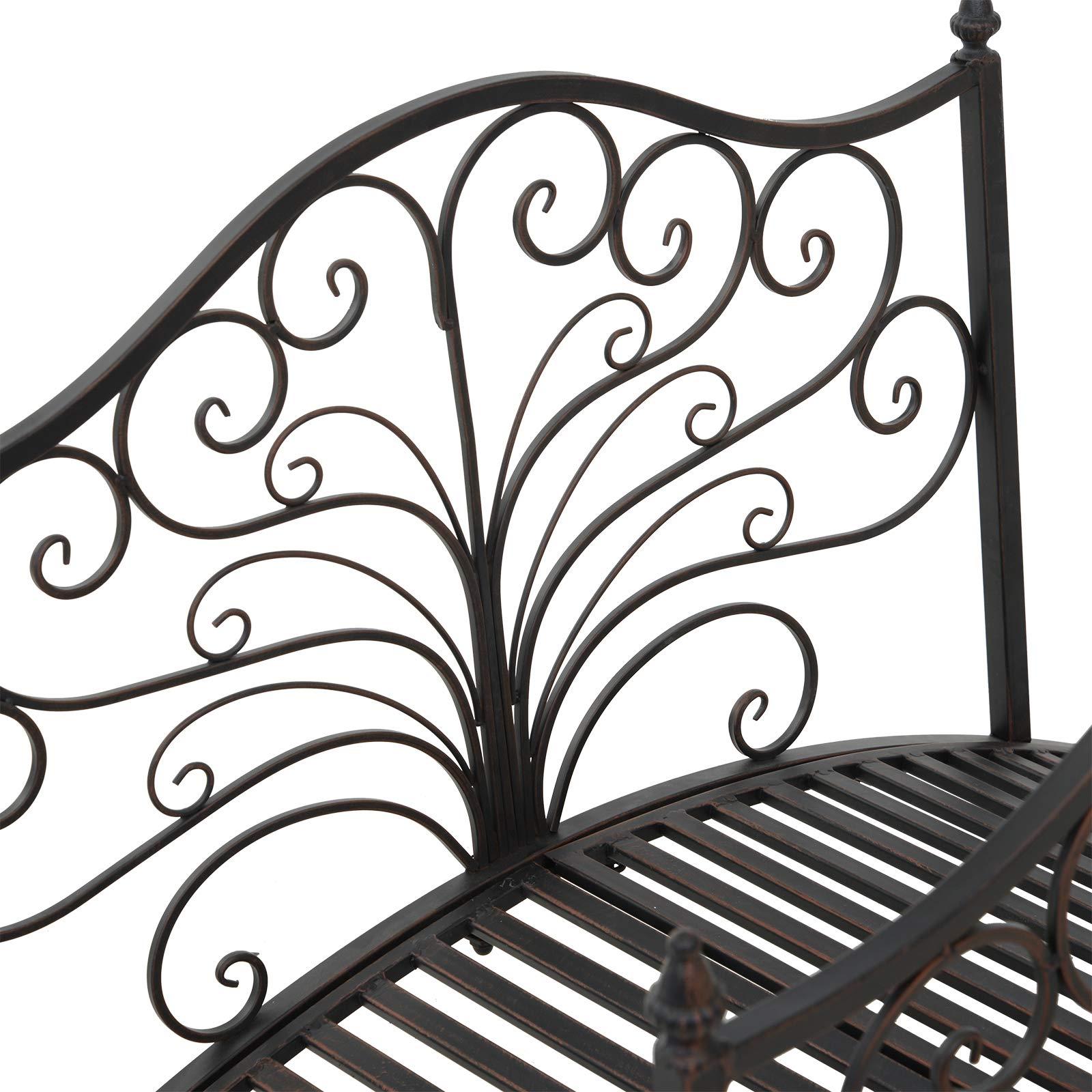 Festnight Outdoor Metal Garden Bridge Patio Backyard Decorative Bridge Black Bronze, 4' by Festnight (Image #5)