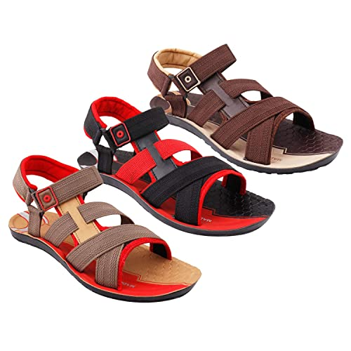 Buy Creation Garg Men/Boys Sandals/Floaters | Pack of 3 Sandals at Amazon.in