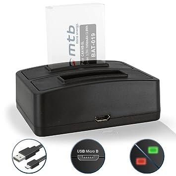 Cargador doble (USB) para Canon NB-5L/Ixus 90 IS, 800 IS, SD990 IS.Powershot SX200 IS, SX210 IS, SX220 HS, SX230 HS … - ver lista de compatibilidad