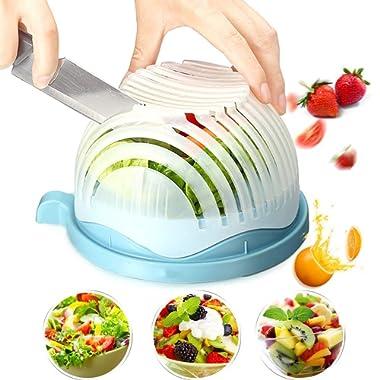 Salad Cutter Bowl Maker: Easy Fruit & Vegetable Cutter Bowl Fast Salad Slicer