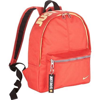 Nike Classic Base Mochila, Unisex niños, Rojo (Track Red/Black/Melon
