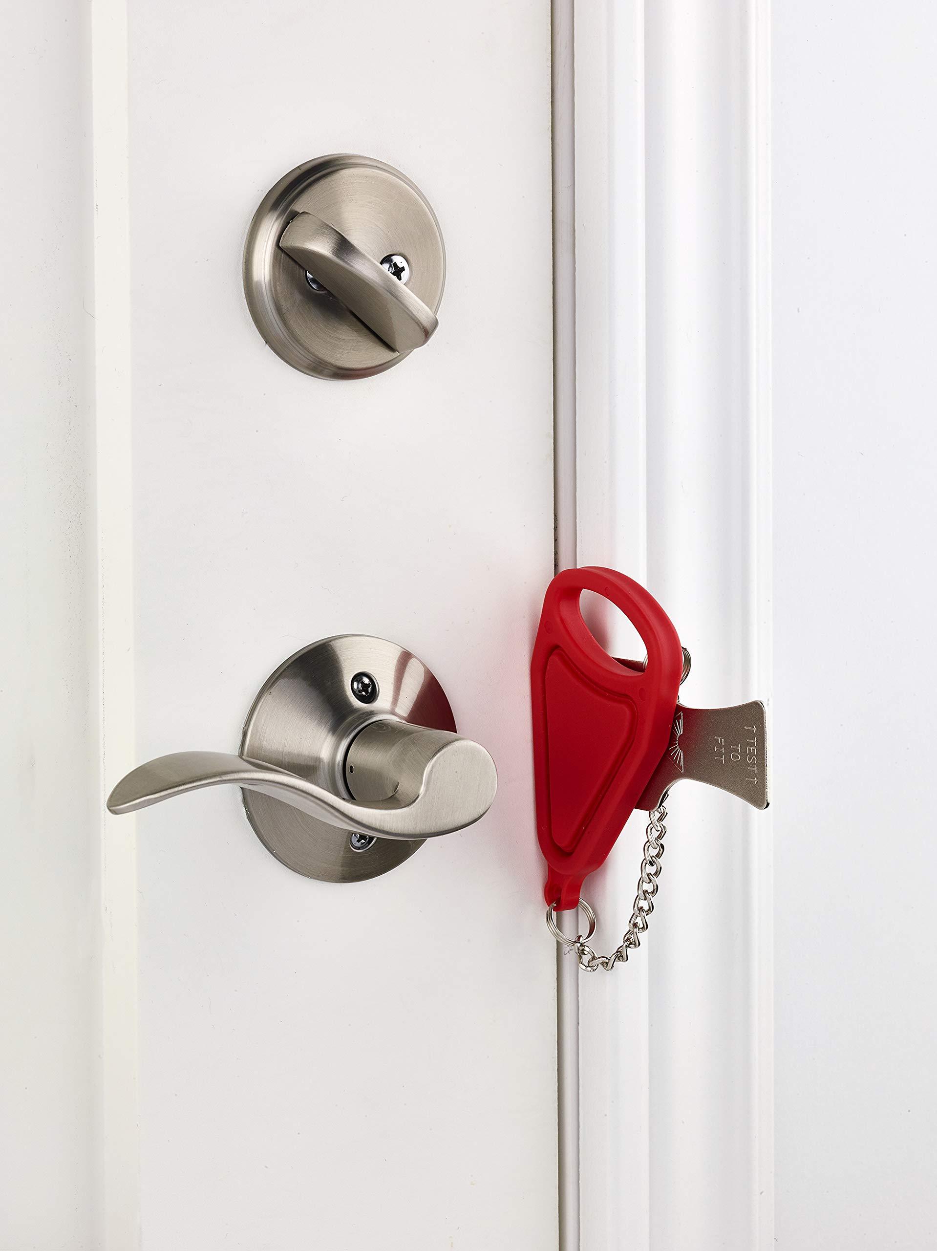 Addalock - (1 Piece) The Original Portable Door Lock, Travel Lock, AirBNB Lock, School Lockdown Lock. PLEASE NOTE: The Genuine Addalock is exclusively sold worldwide only by Rishon Enterprises Inc. by Addalock