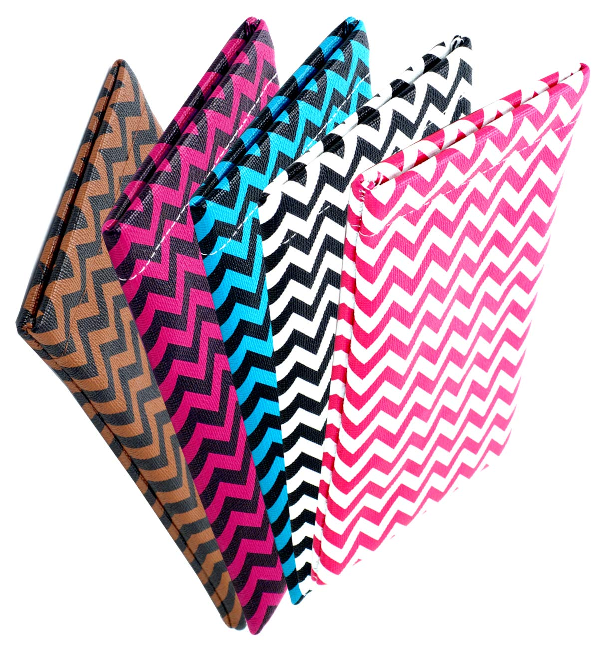 Soft Squeeze Top Slip In Eyeglasses Case And Holder, Chevron Design (5pack)