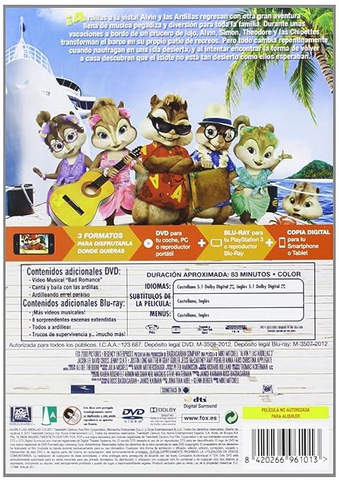 Alvin Y Las Ardillas 3 Dvd (Dvd+Bd+Copia Dig): Amazon.es: Mike Mitchell: Cine y Series TV