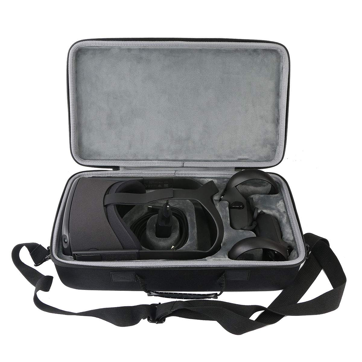 co2CREA Hard Travel Case Replacement for Oculus Quest 1 2 Advanced All-in-one VR Gaming Headset