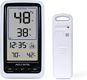 AcuRite 01136M Wireless Thermometer with Indoor/Outdoor Temperature and Humidity, White