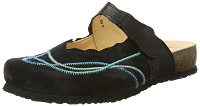 Think Damen Julia_181344 Clogs, Schwarz (Sz/Petrol 12), 37 EU