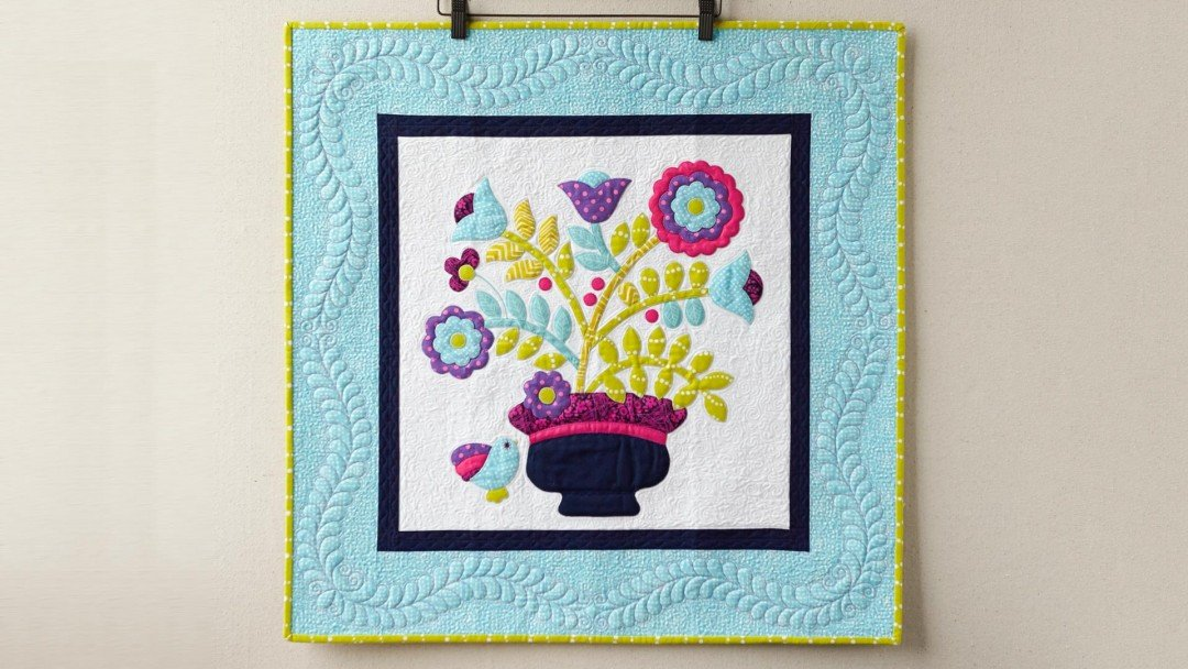 Amazon learn raw edge applique quilting starting by hand and