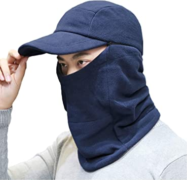 Winter Bomber Hats Masks Neck Masks Warmth Outdoor Cycling Wind Proof and Cold Proof Caps