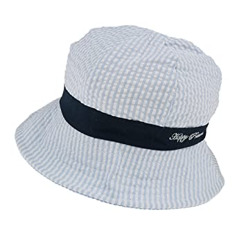 a7bea5c443818 Dovewill Baby Sun Hat Little Boys Girls Cotton Cap Chin Strap Summer Beach  Hats - Blue, as described: Amazon.ca: Baby