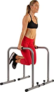 Sunny Health & Fitness SF-BH6507 Dip Station Body Press Parallel Bar with Adjustable Length and Foam Grips