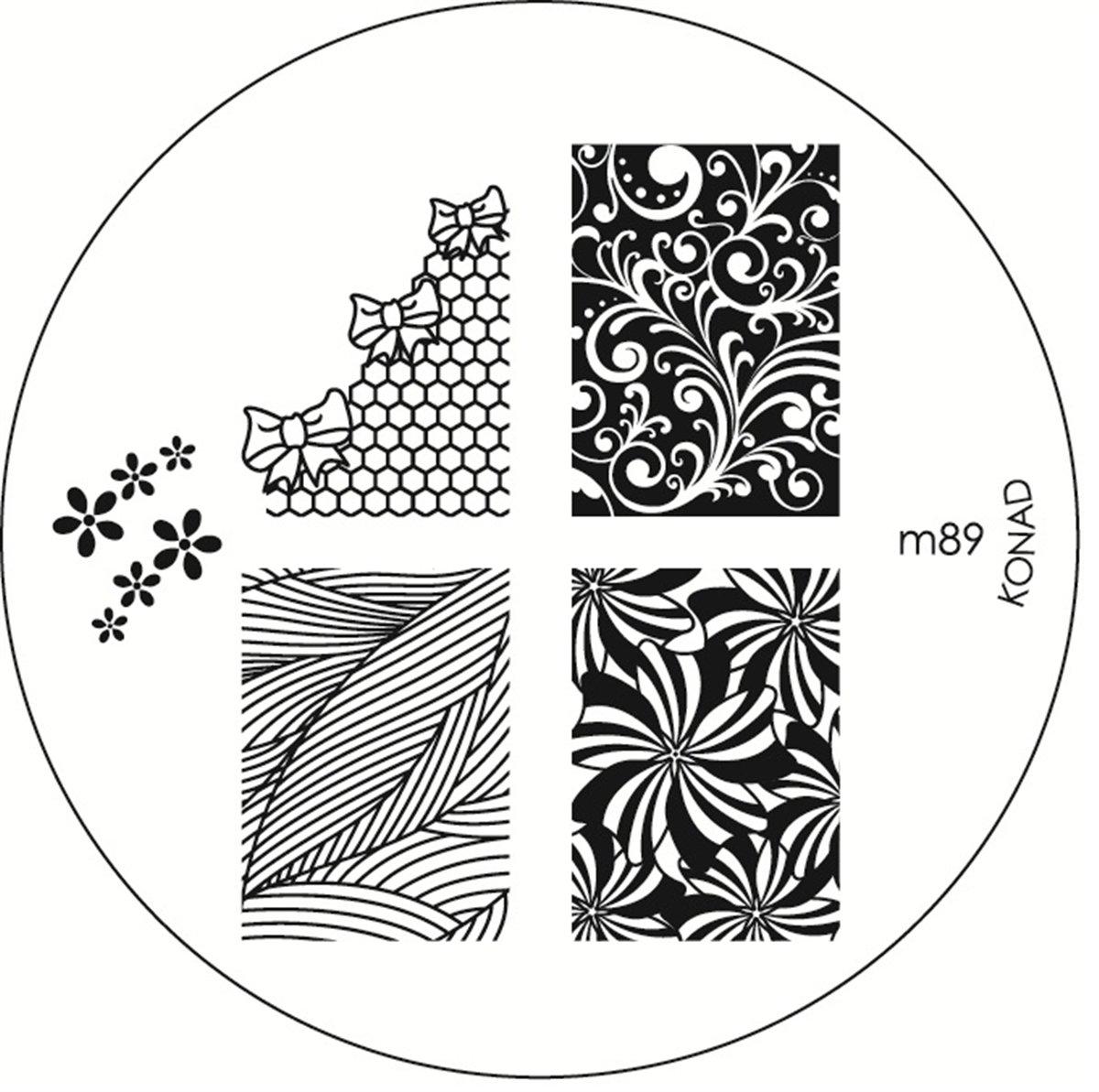 Konad Stamping Schablone für Nailart M89 RM Beautynails