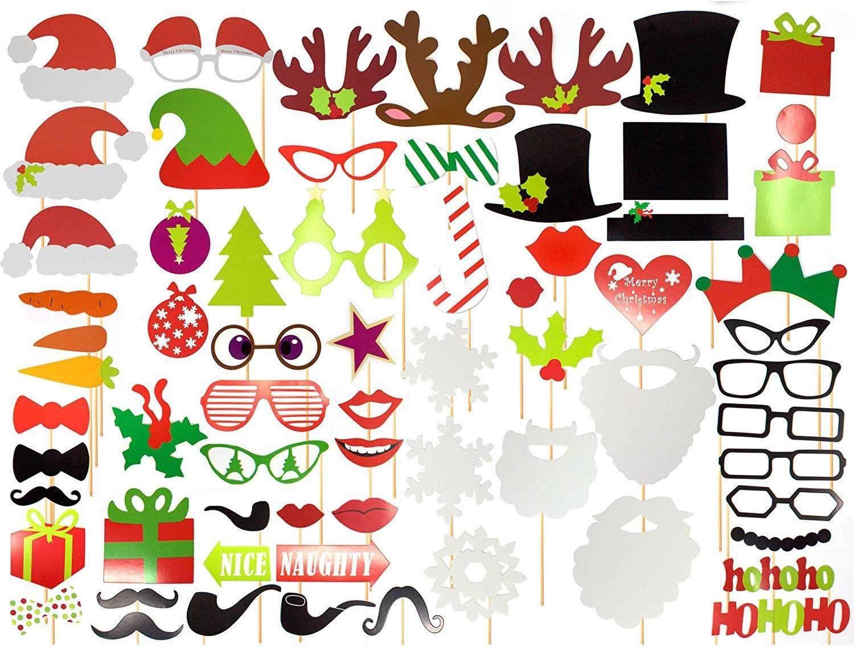Paquete de 65 - Accesorios Festivos de Navidad para Photocall ...
