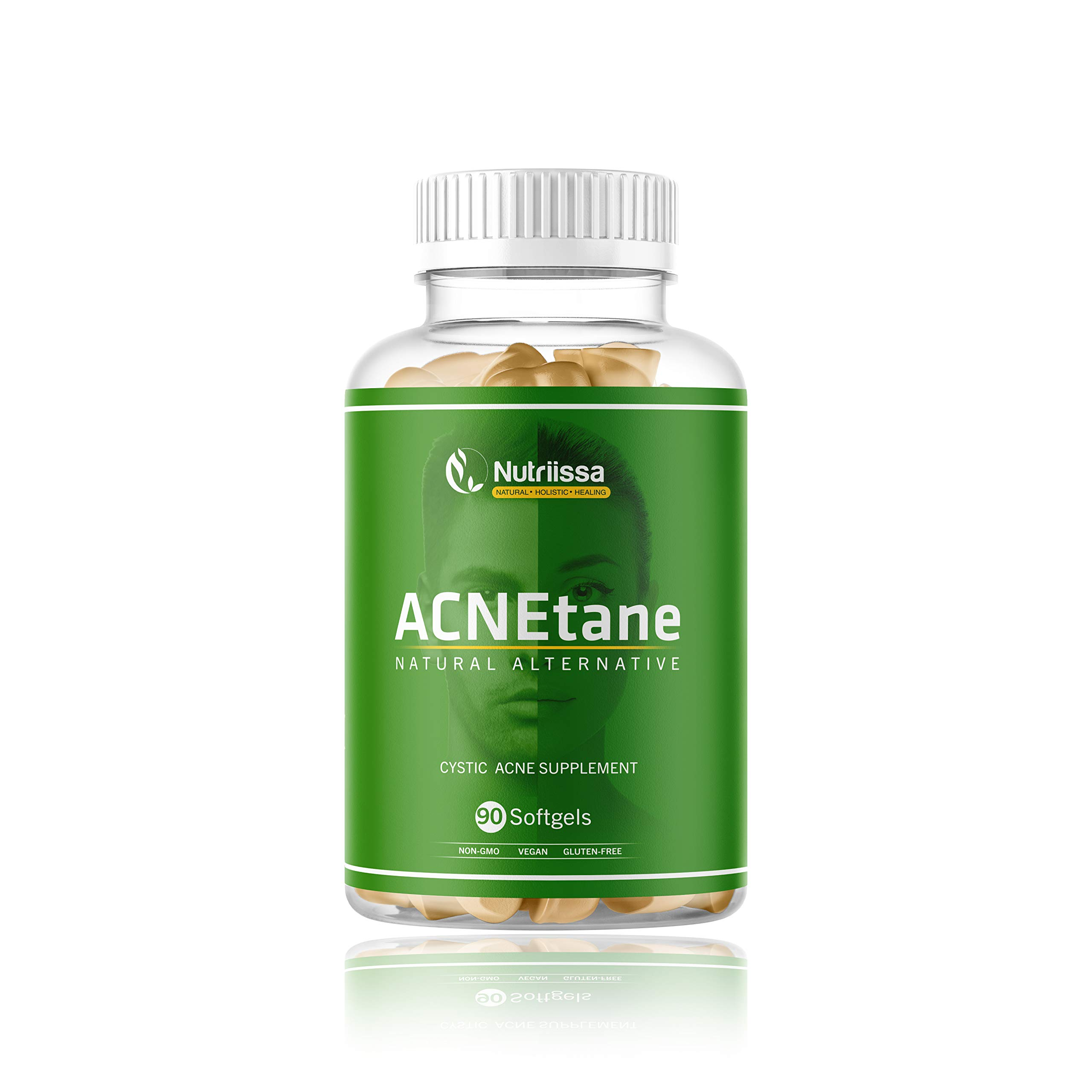 ACNEtane - All Natural Vitamin Supplement for Treating Acne, 90 Veggie Softgels (Treats Hormonal, Puberty, & Cystic Acne Internally)