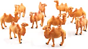 10 Pcs Camel Figurines Hand Painted Camel Figurine Miniature Animal Statue Wildlife Bactrian Camel Camel Animal Model Table Desktop Animal Figurine Cake Toppers Statue Collection Home Decor
