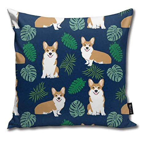 Zara-Decor Corgi Monstera Tropical Perro Raza Corgis Azul ...