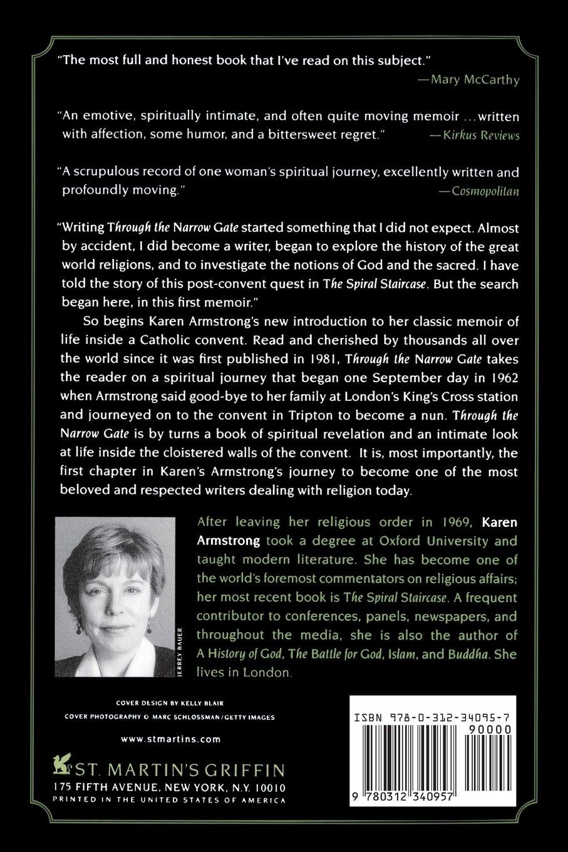 Through The Narrow Gate: A Memoir Of Spiritual Discovery: Karen Armstrong:  9780312340957: Amazon: Books