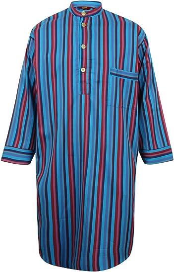 Camicia da Notte in Puro Cotone a Righe Uomo