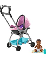 """Barbie FXG95 """"Skipper Babysitters Inc."""" Storytelling Pack Stroller with Baby (AA)"""