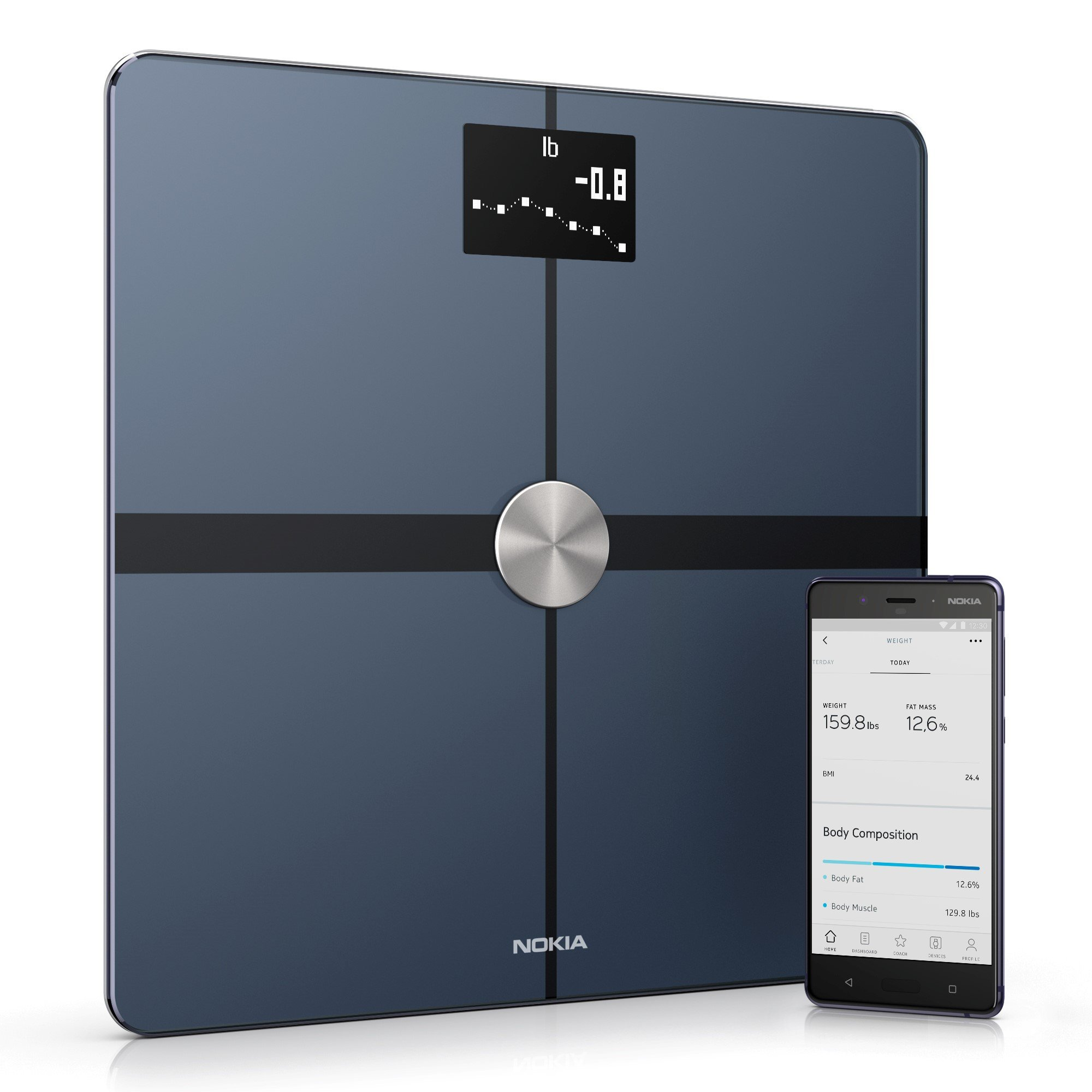 Nokia Body+ - Body Composition Wi-Fi Scale, Black by Nokia health