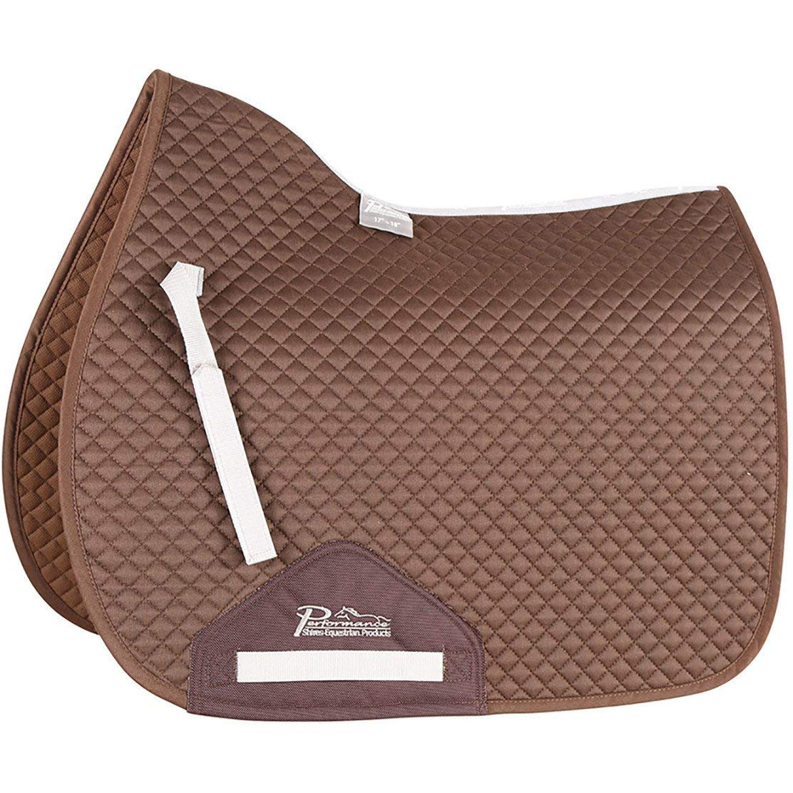 Shires Performance Saddlecloth Saddle Pad Cob Full Size Brown