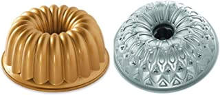 product image for Set of 2 Nordic Ware Cake Elegant Party and Stained Glass Bundt Pans