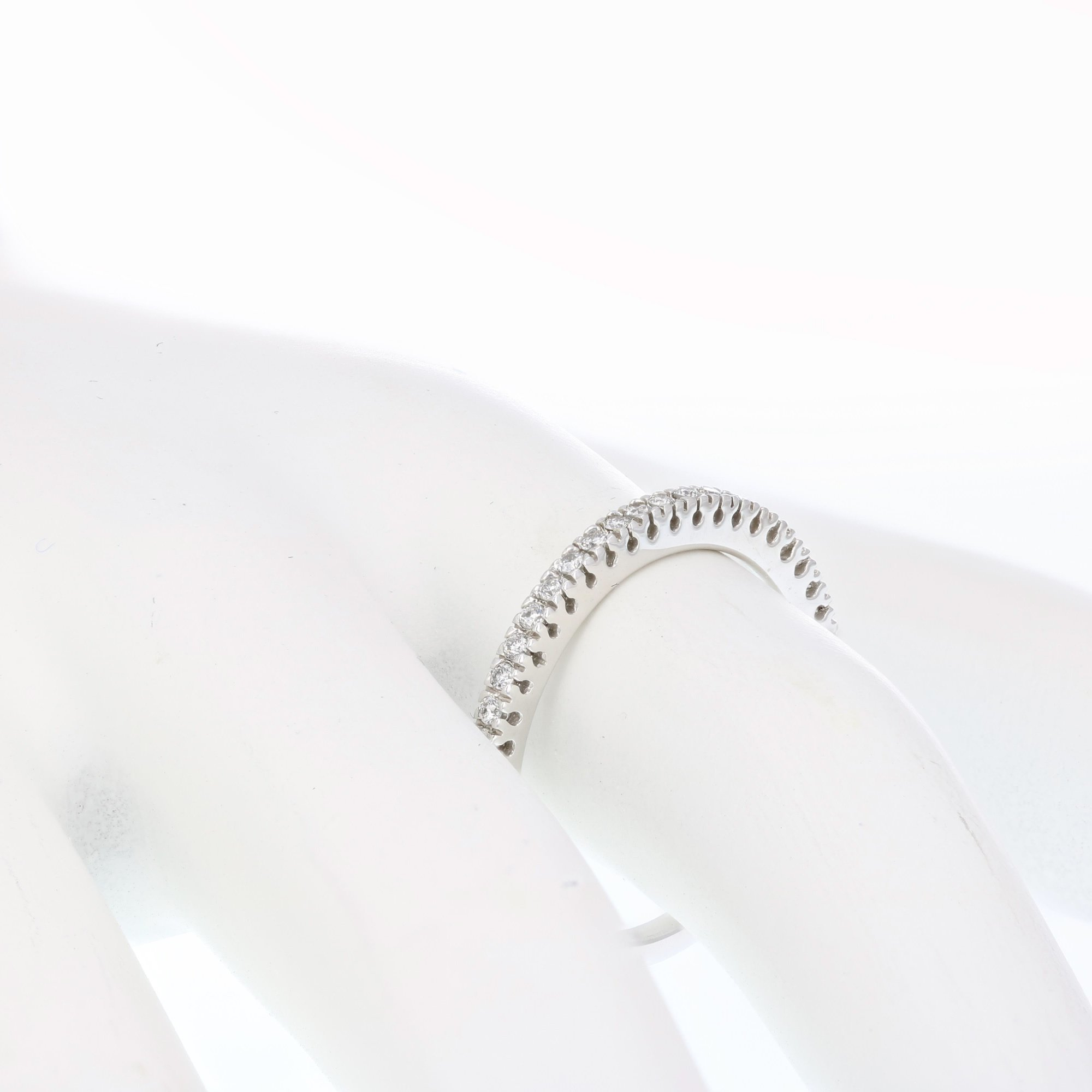 1/6 ctw Pave Diamond Wedding Band in 10K White Gold In Size 5 by Vir Jewels (Image #3)