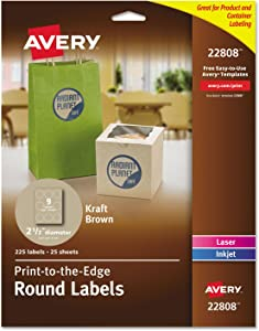 Avery Round Labels for Laser & Inkjet Printers, 2.5