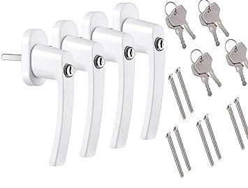 Stiftl/änge 45mm Premium Aluminium Fenstergriff in Wei/ß