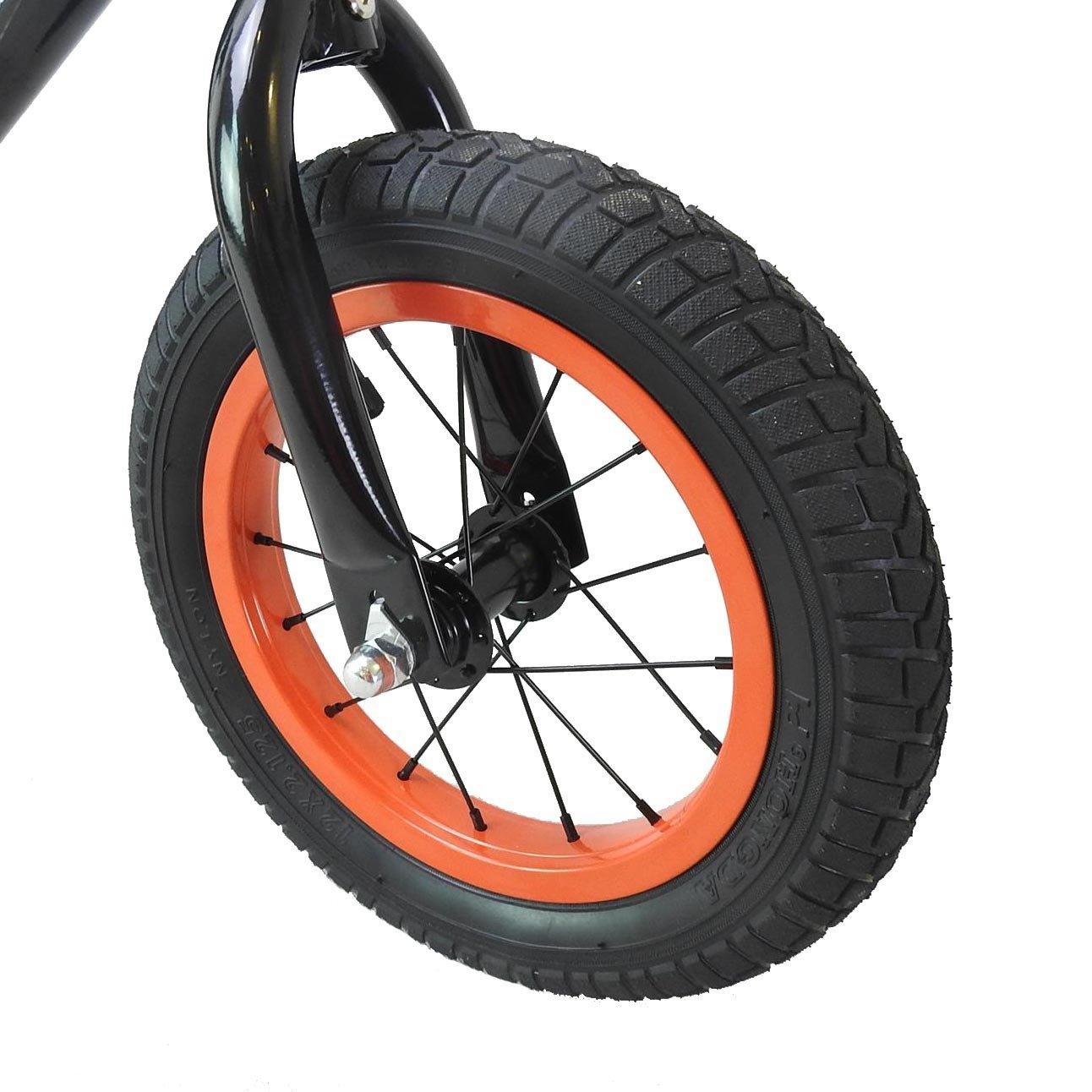 CyclingDeal Alloy Kids Push Balance No-Pedal Bike 12'' Black by CyclingDeal (Image #3)