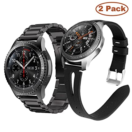 YaYuu Correa de Reloj para Samsung Galaxy Watch Active/Active 2 40mm 44mm/Galaxy Watch 42mm/Gear Sport, 20mm Acero Inoxidable Metal Banda Pulsera de ...