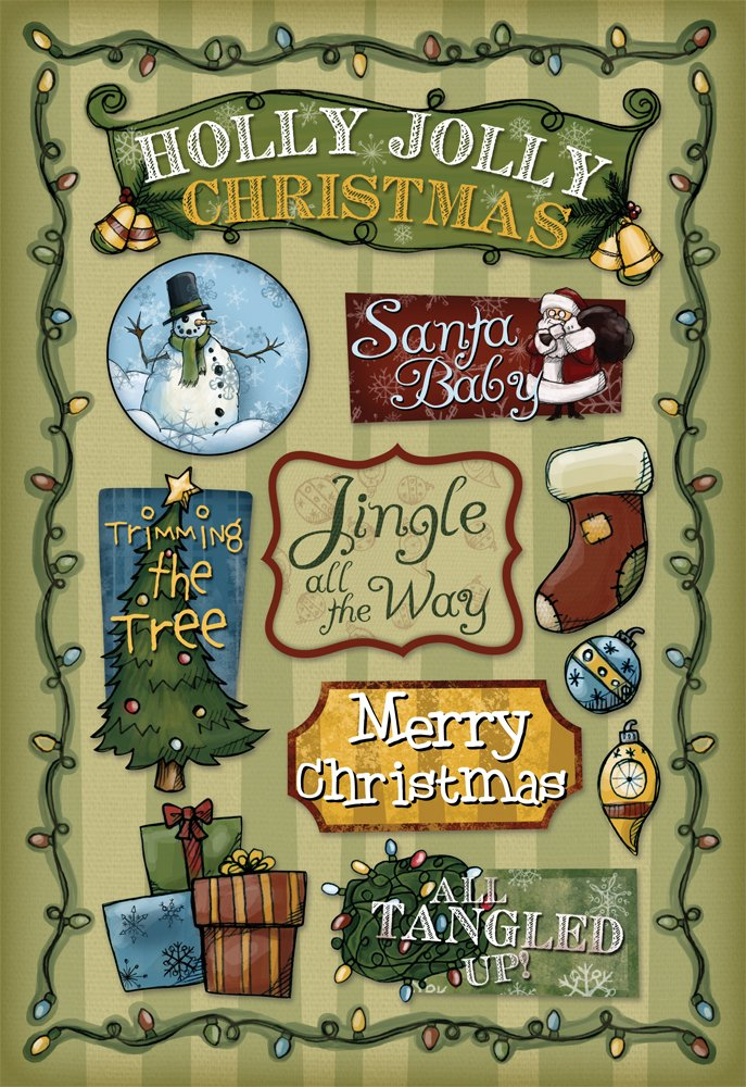Whimsical Christmas Cardstock Stickers 5.5'X9'-Holly Jolly Karen Foster 10961