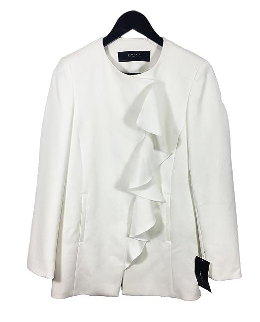 e88539dbc349 Zara Women s Crossover frock coat with frill 2213 349 (Small ...