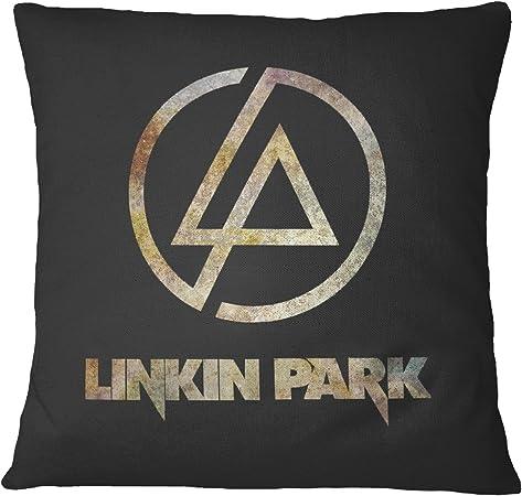 LaMAGLIERIA Linkin Park Rust Texture Dekorative Kissen Kissen Fall für Sofa Couchkissen Decorative Pillow, 40cmx40cm, Schwarz