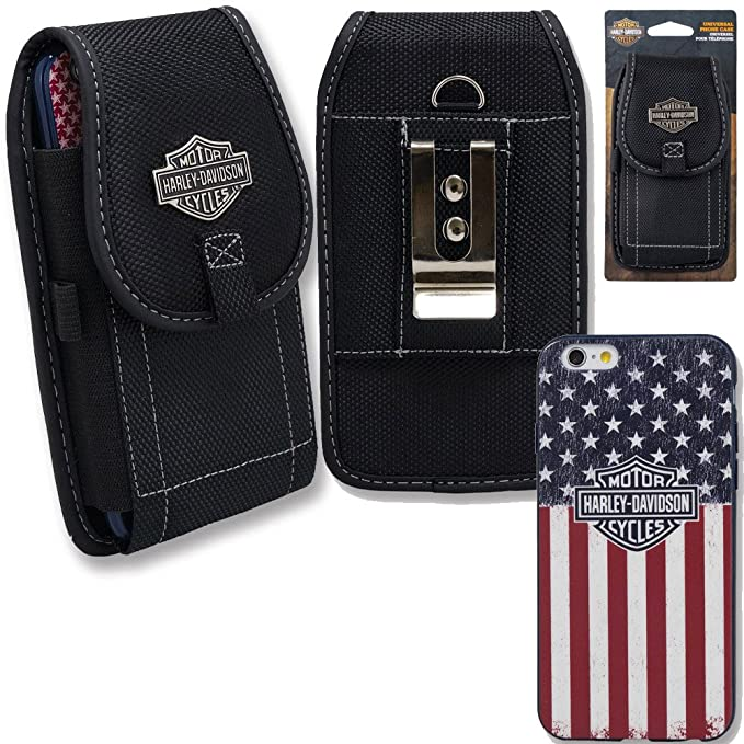 buy online 6b896 dab05 Amazon.com: Harley Davidson iPhone 7 Semi Rigid TPU USA Flag Cover ...