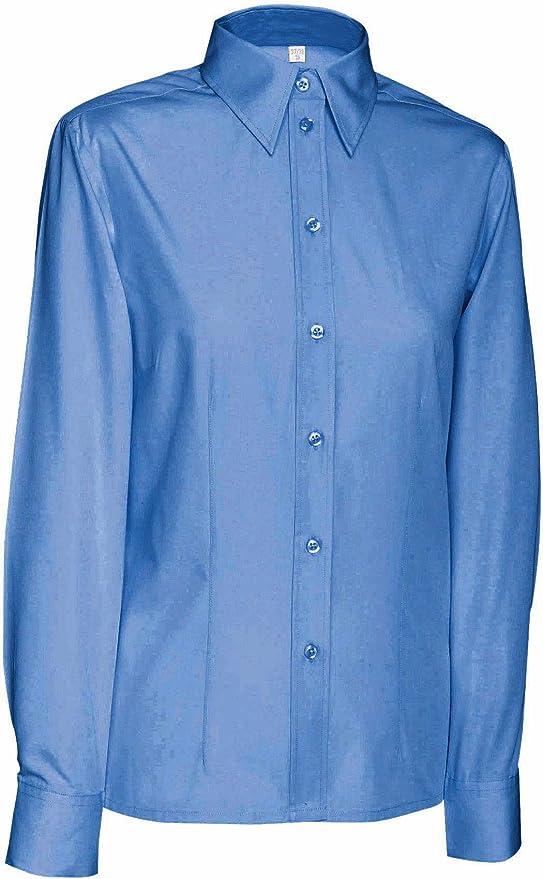 James & Nicholson – Camisa de manga larga Popeline – Planchado fácil – JN066 – Mujer: Amazon.es: Ropa y accesorios