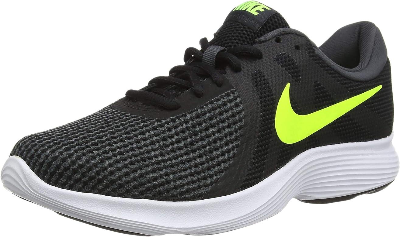 Nike Revolution 4, Zapatillas de Running para Hombre, Negro (Black/Volt/Anthracite 007), 45.5 EU: Amazon.es: Zapatos y complementos