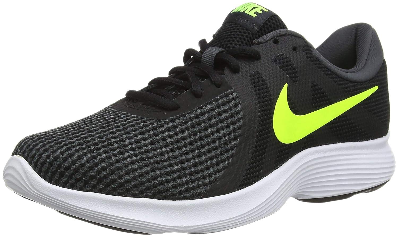 Nike Revolution 4 EU, Zapatillas de Running para Hombre 39 EU|Negro (Black/Volt/Anthracite 007)