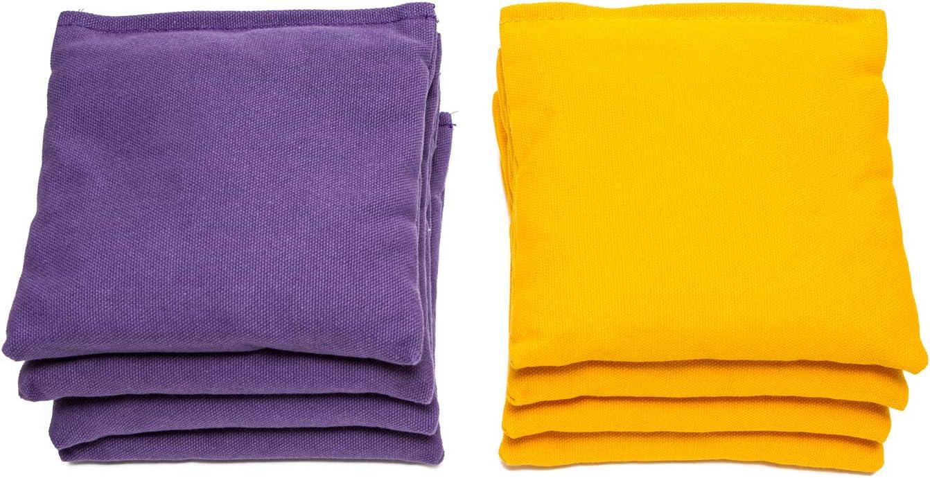 Weather Resistant Cornhole Bags Set of 8 Choose Your Colors by SC Cornhole:
