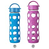 Lifefactory 16-Ounce BPA-Free Glass Water Bottle
