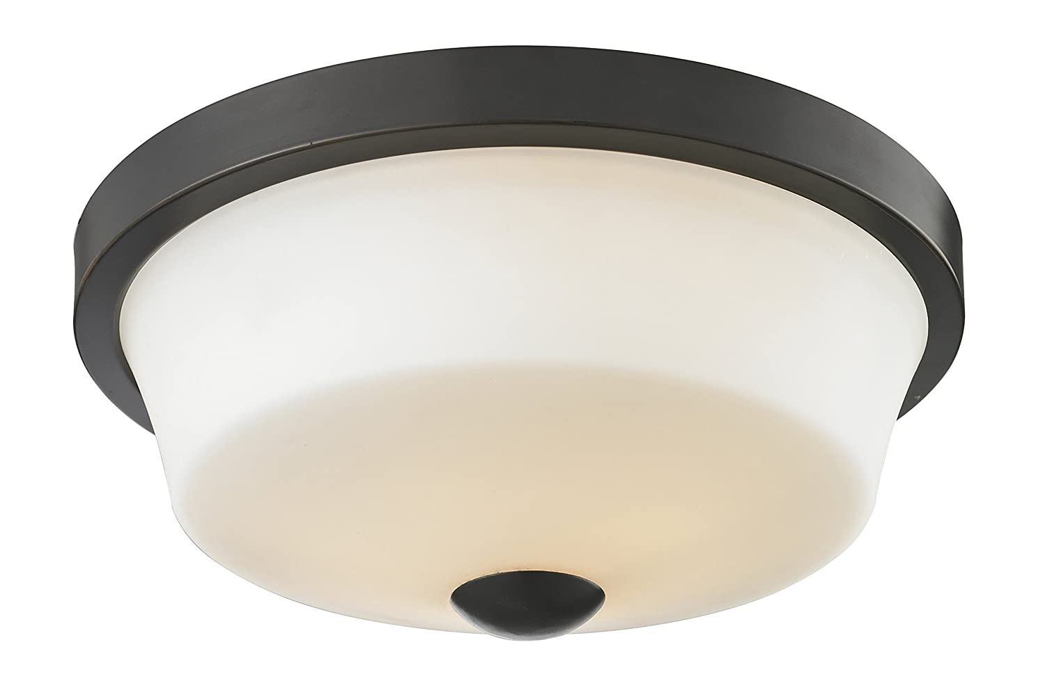 Matte Opal Z-Lite 411F2 2-Light Flush Mount