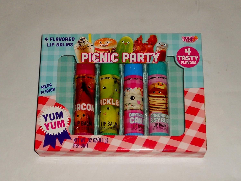 Amazon Picnic Party 4 Jumbo Fun Flavored Lip Balm Set Health Personal Care