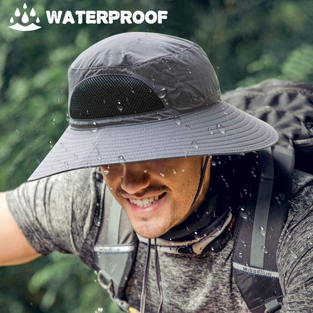 Impermeable GoHZQ Sombrero de Sol Unisex para Hombre Ciclismo Pesca Caza Senderismo con Malla Transpirable y Correa para la Barbilla protecci/ón UV Golf para Camping