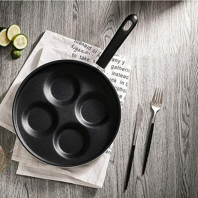 Amazon.com: Sartén para huevos con diseño de 4 moldes con ...