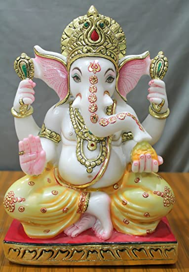 Buy Gmb Sculptures Marble Ganesh Statue 12 Inch 31 Cms Online At